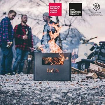 höfats - BEER BOX Feuerkorb - Getränkekiste, Feuerkorb, Grill und Hocker in einem - für Garten und Terrasse - Corten-Stahl - Rost-Optik - 2