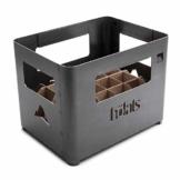 höfats - BEER BOX Feuerkorb - Getränkekiste, Feuerkorb, Grill und Hocker in einem - für Garten und Terrasse - Corten-Stahl - Rost-Optik - 1