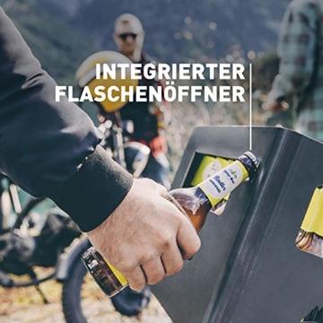 höfats - BEER BOX Feuerkorb - Getränkekiste, Feuerkorb, Grill und Hocker in einem - für Garten und Terrasse - Corten-Stahl - Rost-Optik - 6