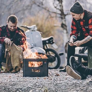 höfats - BEER BOX Feuerkorb - Getränkekiste, Feuerkorb, Grill und Hocker in einem - für Garten und Terrasse - Corten-Stahl - Rost-Optik - 8