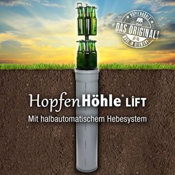 HopfenHöhle Lift - Das Original: Outdoor Erdloch Bierkühler - Made in Germany! Mit integriertem halbautomatischem Hebesystem! - 3