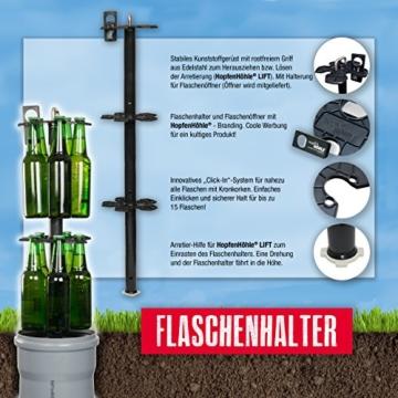 HopfenHöhle Lift - Das Original: Outdoor Erdloch Bierkühler - Made in Germany! Mit integriertem halbautomatischem Hebesystem! - 5