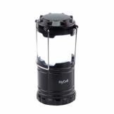HyCell LED Campinglampe CL30 - Batteriebetriebene LED Campingleuchte - Handliche Leuchte mit blendfreier Ausleuchtung - Ideal für Festivals Camping Ausrüstung Zelten Lesen Garten oder Notfallleuchte - 1