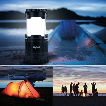 HyCell LED Campinglampe CL30 - Batteriebetriebene LED Campingleuchte - Handliche Leuchte mit blendfreier Ausleuchtung - Ideal für Festivals Camping Ausrüstung Zelten Lesen Garten oder Notfallleuchte - 5