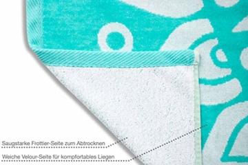 jilda-tex Strandtuch 90x180 cm Badetuch Strandlaken Handtuch 100% Baumwolle Velours Frottier Pflegeleicht (Mandala) - 3