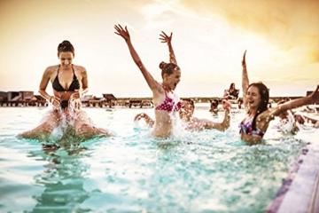 JOYORUN Damen V-Ausschnitt Lang Kleid Sommer-Strand-Wickelkleid Bademantel Handtuch Reise Spa Schwimmen Große Größe - 8