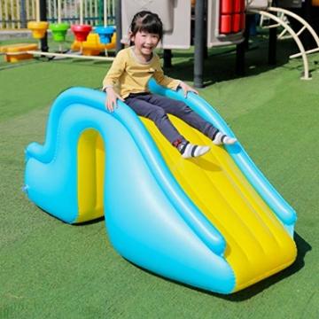 Kleine Aufblasbare Wasserrutsche, Zubehör Für Kinder-Planschbecken, Geeignet Für Innen- / Außen- / Strand- / Pool- / Garten- / Garten- / Sommerwasserparty, Mit Fußpumpe - 2