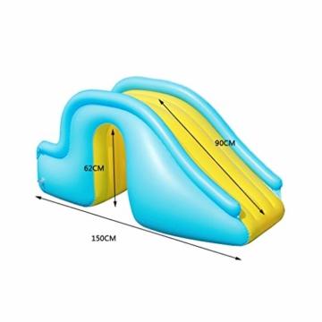 Kleine Aufblasbare Wasserrutsche, Zubehör Für Kinder-Planschbecken, Geeignet Für Innen- / Außen- / Strand- / Pool- / Garten- / Garten- / Sommerwasserparty, Mit Fußpumpe - 3