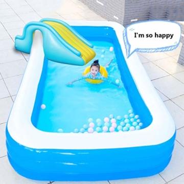 Kleine Aufblasbare Wasserrutsche, Zubehör Für Kinder-Planschbecken, Geeignet Für Innen- / Außen- / Strand- / Pool- / Garten- / Garten- / Sommerwasserparty, Mit Fußpumpe - 4