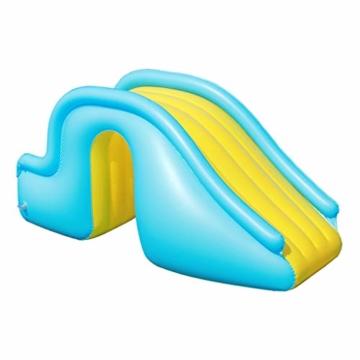 Kleine Aufblasbare Wasserrutsche, Zubehör Für Kinder-Planschbecken, Geeignet Für Innen- / Außen- / Strand- / Pool- / Garten- / Garten- / Sommerwasserparty, Mit Fußpumpe - 1