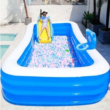 Kleine Aufblasbare Wasserrutsche, Zubehör Für Kinder-Planschbecken, Geeignet Für Innen- / Außen- / Strand- / Pool- / Garten- / Garten- / Sommerwasserparty, Mit Fußpumpe - 5