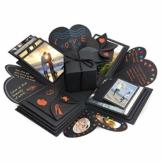 Komake Überraschung Box, Explosion Box, DIY Geschenk Scrapbook und Foto-Album für Weihnachten/Valentine/Jahrestag/Geburtstag/Hochzeit (Schwarz) - 1