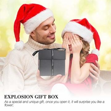 Komake Überraschung Box, Explosion Box, DIY Geschenk Scrapbook und Foto-Album für Weihnachten/Valentine/Jahrestag/Geburtstag/Hochzeit (Schwarz) - 7