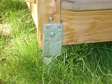 Krinner Bodenhülse U-Fix 91 (Eindrehbodenhülse für Kanthölzer, Pfostenträger, Länge 830 mm, für Holzgröße 90 / X mm) 21073, feuerverzinkt - 4