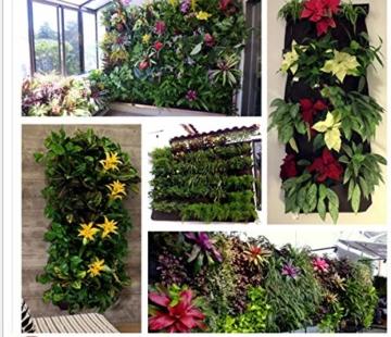 L & H Gadgets Vertikaler Hängepflanzer mit 7 Taschen für Kräuter oder Blumen, Pflanztasche für Hof, Wohnungen, Balkon, Terrasse, Schulhof und Garten - 2