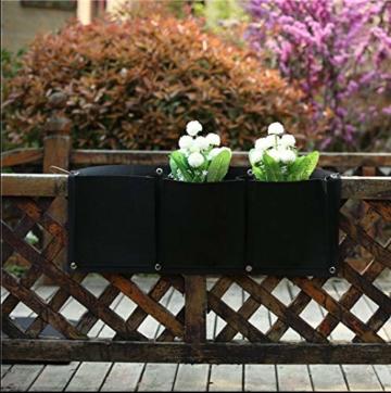 L & H Gadgets Vertikaler Hängepflanzer mit 7 Taschen für Kräuter oder Blumen, Pflanztasche für Hof, Wohnungen, Balkon, Terrasse, Schulhof und Garten - 3