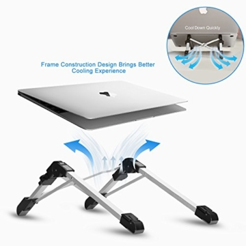 Laptop Ständer Faltbarer Laptopständer Notebook Ständer, Augen-Niveau Ergonomisches Halterung Ständer für 8