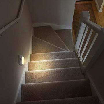 LED Nachtlicht mit Bewegungsmelder OMERIL 2 Stück Warmweiß Nachtlicht Kind, 3 Modi (Auto/ON/OFF) LED Schrankbeleuchtung mit Haftend, Orientierungslicht für Kinderzimmer, Schlafzimmer, Treppen, Flur - 5