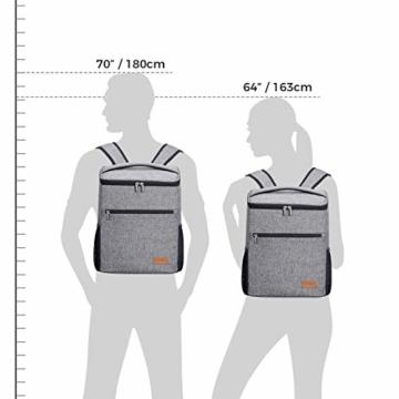 Lifewit 24L Kühl Rucksack Kühlrucksack Kühltasche Picknicktasche Groß Isoliert Cooler Bag Männer Frauen für Strand/Picknick/Camping/BBQ/Wandern - 4