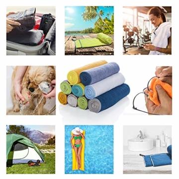 LightDry Original Mikrofaser Backpack Sporthandtuch für Damen und Herren Reisehandtuch extrem schnell trocknend Sport Strand und Badehandtuch Saugfähig, leicht & antibakteriell Verschiedene Größen - 7