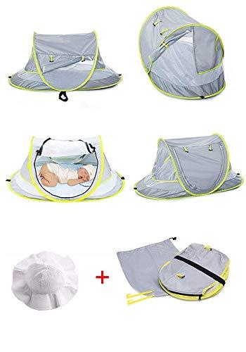LLHAI Bewegliches Baby-Strand-Zelt, knallt Oben Zelt Sun Shelters, Babyreisebett mit Moskito, Schatten Strandschirm - 2