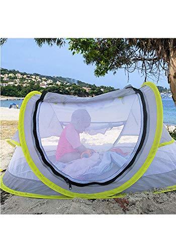 LLHAI Bewegliches Baby-Strand-Zelt, knallt Oben Zelt Sun Shelters, Babyreisebett mit Moskito, Schatten Strandschirm - 7