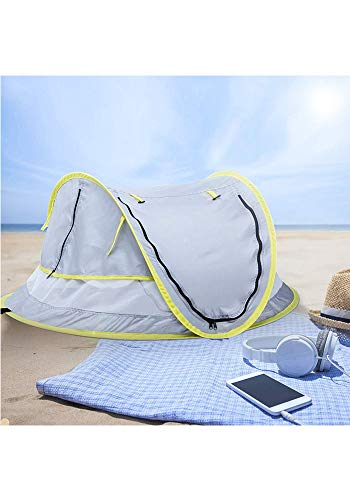LLHAI Bewegliches Baby-Strand-Zelt, knallt Oben Zelt Sun Shelters, Babyreisebett mit Moskito, Schatten Strandschirm - 8