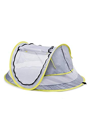 LLHAI Bewegliches Baby-Strand-Zelt, knallt Oben Zelt Sun Shelters, Babyreisebett mit Moskito, Schatten Strandschirm - 1
