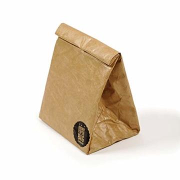 Luckies of London Braune Lunch Bag, Kühltasche mit Klettverschluss Thermische Tasche,  21x26 cm - 2