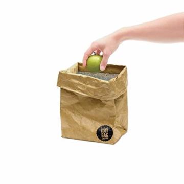 Luckies of London Braune Lunch Bag, Kühltasche mit Klettverschluss Thermische Tasche,  21x26 cm - 4