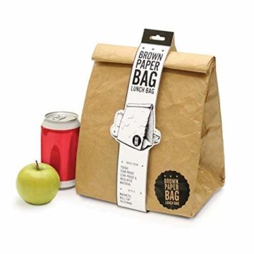 Luckies of London Braune Lunch Bag, Kühltasche mit Klettverschluss Thermische Tasche,  21x26 cm - 1