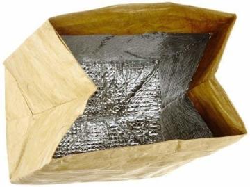 Luckies of London Braune Lunch Bag, Kühltasche mit Klettverschluss Thermische Tasche,  21x26 cm - 5