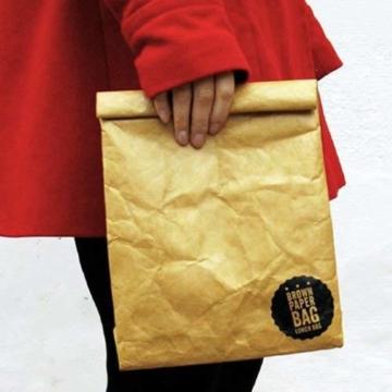Luckies of London Braune Lunch Bag, Kühltasche mit Klettverschluss Thermische Tasche,  21x26 cm - 6