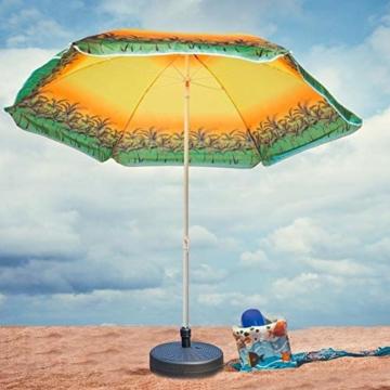 Lvhan Sonnenschirm Schirmständer - Sonnenschirmständer befüllbar mit 24 L Wasser,Balkonschirmständer für Garten, Terrasse,Balkon - 3