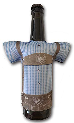 Madl & Buam Bierflaschen Kühler, Bierkühler für 0,3l und 0,5l Flaschen aus Neopren, Party- und Biergadget im Duopack - 2