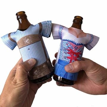 Madl & Buam Bierflaschen Kühler, Bierkühler für 0,3l und 0,5l Flaschen aus Neopren, Party- und Biergadget im Duopack - 3