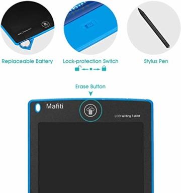 mafiti LCD Schreibtafel, Löschbare Elektronische Digitale Zeichenblock Doodle Board, Writing Tablet, Geschenk für Kinder Erwachsene Home School Office (8,5 Zoll Blau) - 2