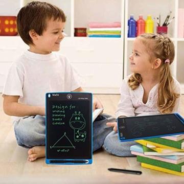 mafiti LCD Schreibtafel, Löschbare Elektronische Digitale Zeichenblock Doodle Board, Writing Tablet, Geschenk für Kinder Erwachsene Home School Office (8,5 Zoll Blau) - 3