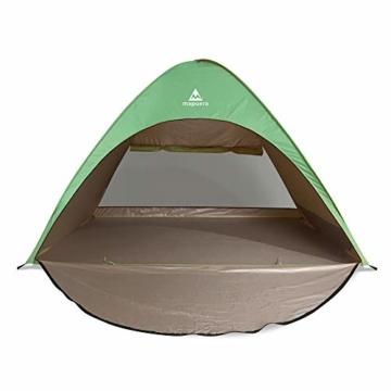 mapuera große Pop up Strandmuschel zum Verschließen Cabana rapida - UV 50+ Sonnenschutz, für 2-4 Personen, in Österreich entwickelt (minzgrün) - 3