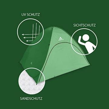 mapuera große Pop up Strandmuschel zum Verschließen Cabana rapida - UV 50+ Sonnenschutz, für 2-4 Personen, in Österreich entwickelt (minzgrün) - 5