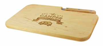 meinbecher nachhaltiges Brotzeitbrett Schneidebrett Jausenbrett Holz Messer Geschenk Männer Frauen Geschenkidee für Ihn & Sie_Camper Feeling - 6