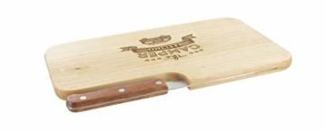 meinbecher nachhaltiges Brotzeitbrett Schneidebrett Jausenbrett Holz Messer Geschenk Männer Frauen Geschenkidee für Ihn & Sie_Camper Feeling - 7