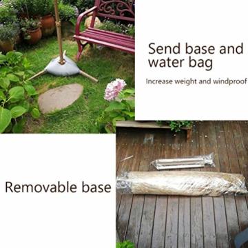 mit Neigungsfunktion Hawaii Tiki Sonnenschirm Gartenschirm Sonnenschirm Hawaii Strandschirm Natürliche Farbe Mit Regenschirmbasis und Wassersack Höhenverstellbar Terrassenschirm - 5