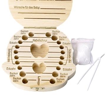 Mogokoyo Deutsch Version baby Kinder Original Holz Haar Milchzahndose Milchzähne Zähne box Kasten Souvenir Aufbewahrungsbox - 2