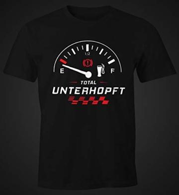 MoonWorks Herren T-Shirt Total Unterhopft Bier Tankanzeige Tacho Fun-Shirt schwarz L - 4