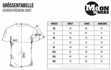 MoonWorks Herren T-Shirt Total Unterhopft Bier Tankanzeige Tacho Fun-Shirt schwarz L - 5