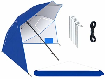MT MALATEC Sonnenschirm-Muschel Strandschirm Windschutz 230cm Sonnenschutz 10066 - 1