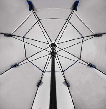 MT MALATEC Sonnenschirm-Muschel Strandschirm Windschutz 230cm Sonnenschutz 10066 - 5