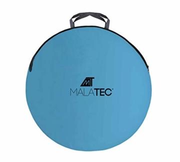 MT MALATEC Strandmuschel Pop Up UV Schutz Wurfzelt leicht Sonnenzelt 10178, Größe:220x120x90 cm - 4