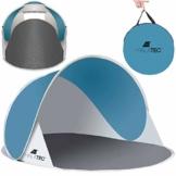 MT MALATEC Strandmuschel Pop Up UV Schutz Wurfzelt leicht Sonnenzelt 10178, Größe:190x120x90 cm - 1